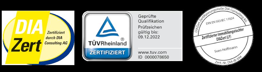Zertifiziert Gutachter Hoffmann TÜV DIA
